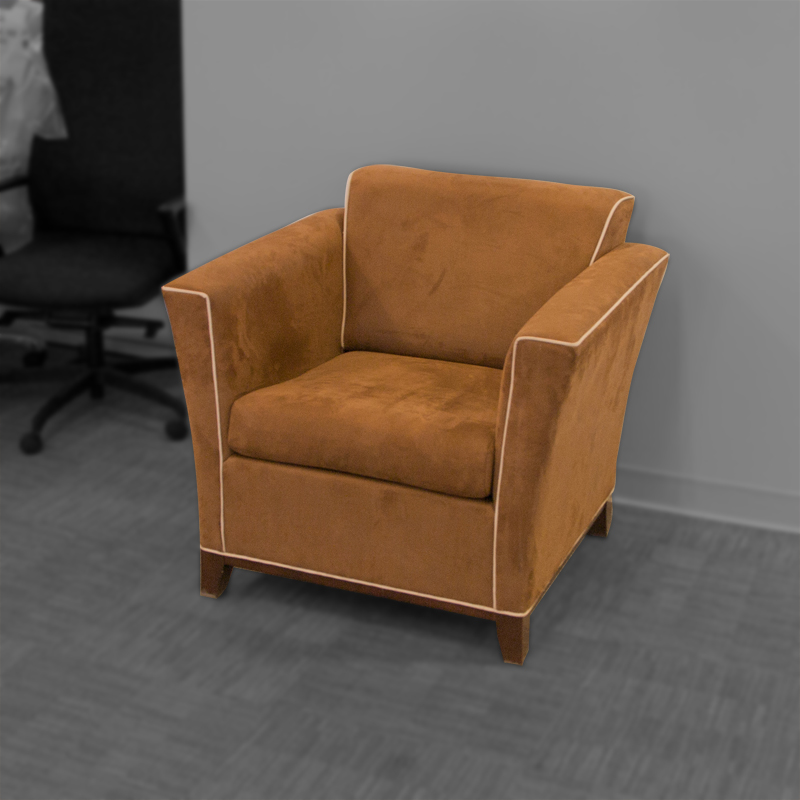 National Monterrey Suede One Seat Lounge Chair Image