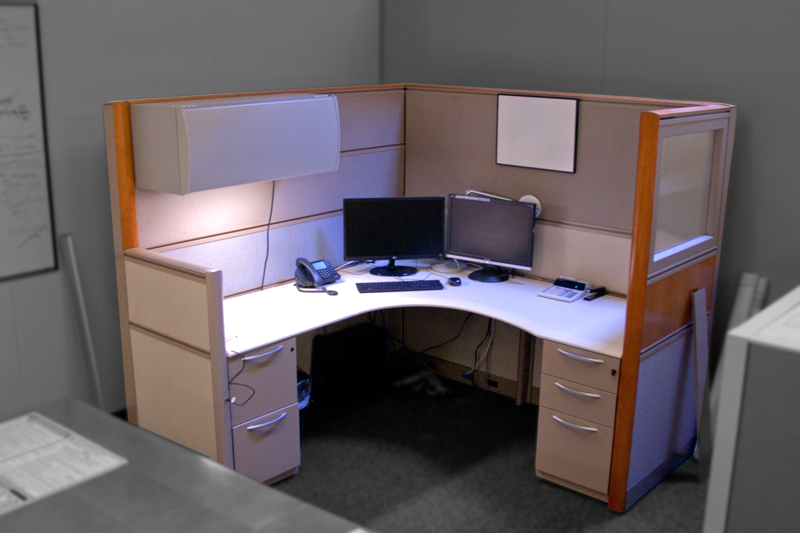 Kimball Xsite Workstations with Cherry Trim Image