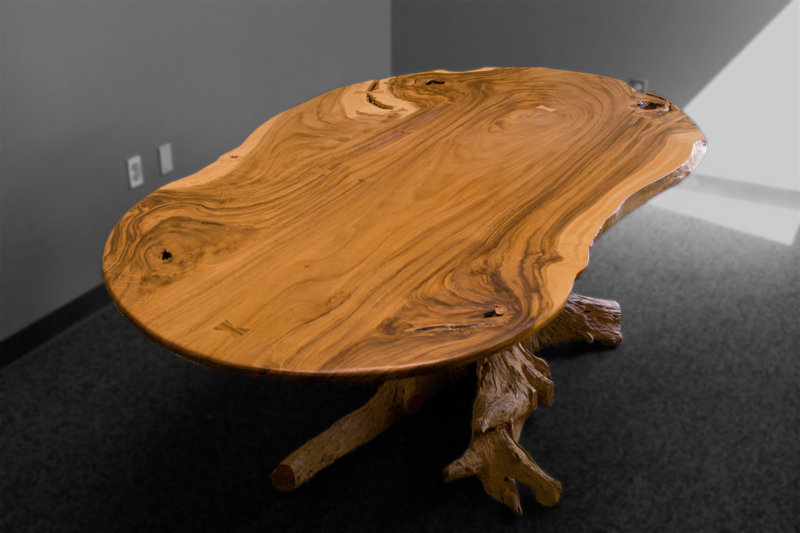 Custom Burl Wood Conference Table Image